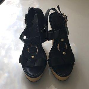 Mission Supply Co. Black & Gold Heels